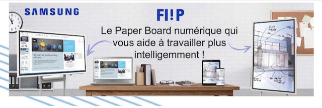 DWPRO-En avant-première, découvrez SAMSUNG FLIP : le paperboard numérique pensé pour le travail collaboratif !
