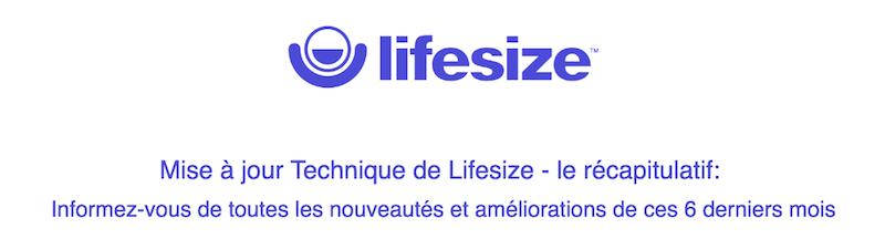 LifeSize-Mise à jour technique