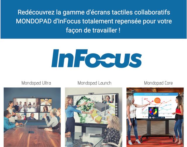 DWPRO - Infocus : redécouvrez la gamme d´écrans tactiles collaboratifs MONDOPAD repensée pour votre façon de travailler !