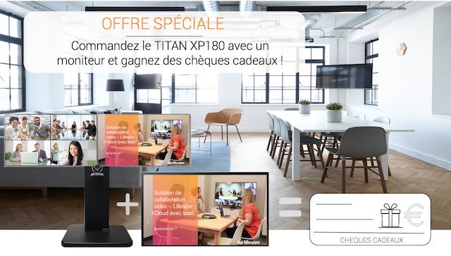 DWPRO | Offre spéciale : Commandez le TITAN XP180 avec un moniteur et gagnez des chèques cadeaux !