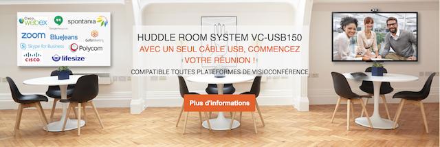 DWPRO | Une visioconférence simple grâce au HUDDLE ROOM SYSTEM VC-USB150 !