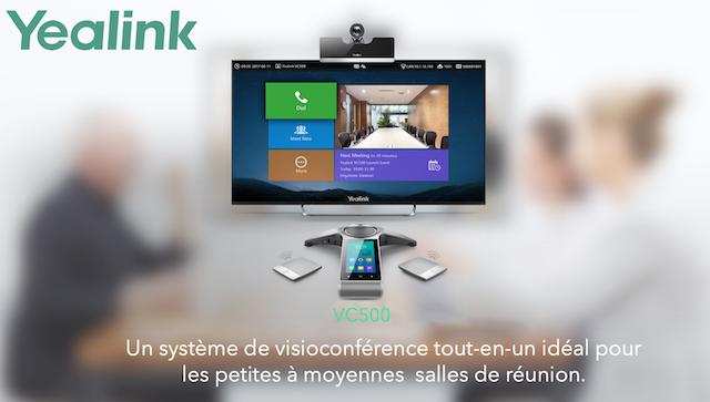 DWPRO | YEALINK VC500 : un système de visioconférence tout-en-idéal pour les petites et moyennes salles de réunions !