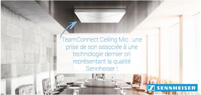 DWPRO | TeamConnect Ceiling Mic : la dalle microphone de plafond SENNHEISER à la pointe de la technologie pour des conférences réussies !