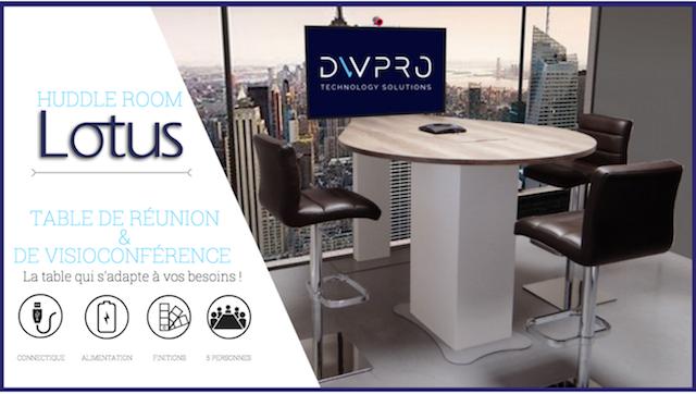DWPRO | Huddle Room Lotus : la table idéale pour toutes vos réunions en locale ou en visioconférence !