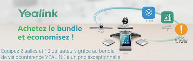 DWPRO | Offre Bundle YEALINK : Achetez le VC800 et le VC200, et la licence multipoint 8 et 10 licences VC-Desktop vous sont offertes !