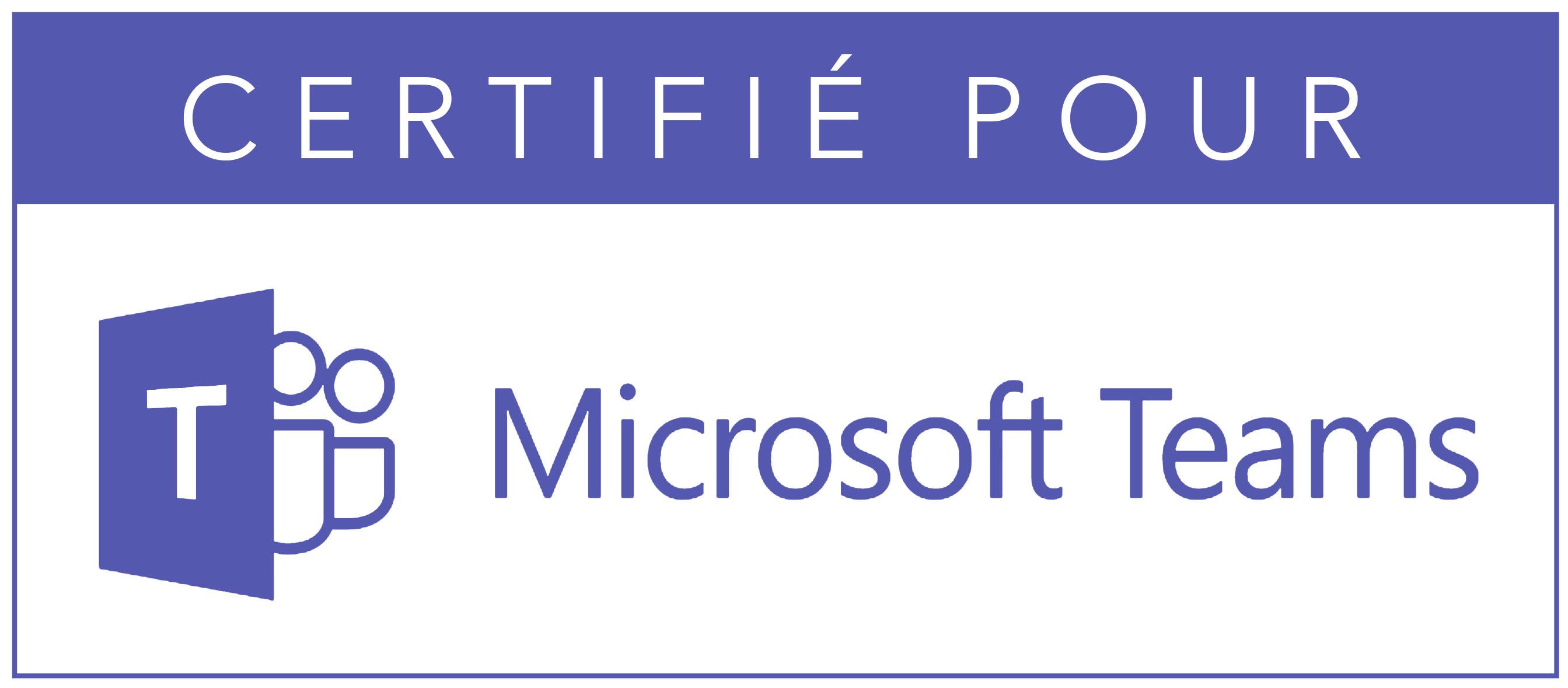 Certifié Microsoft Teams